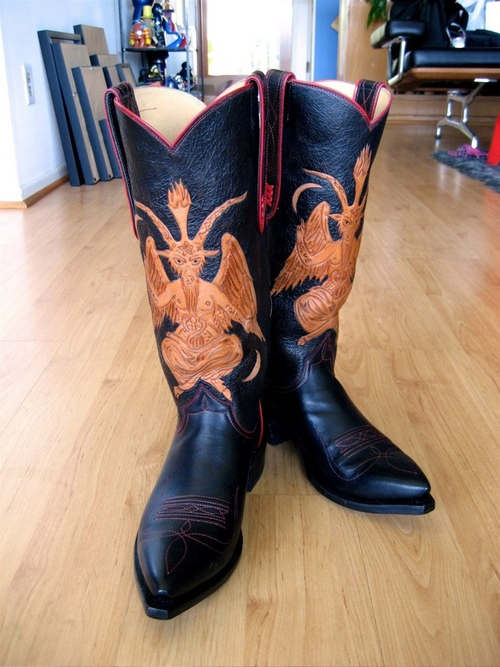 Baphomet boots by Pascal