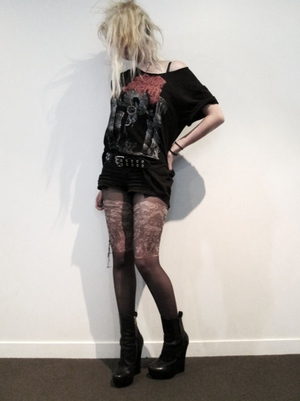 Allegory Apparel's Whore of Babylon tattoo tights