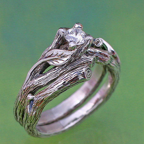 BandScapes twig design ring set