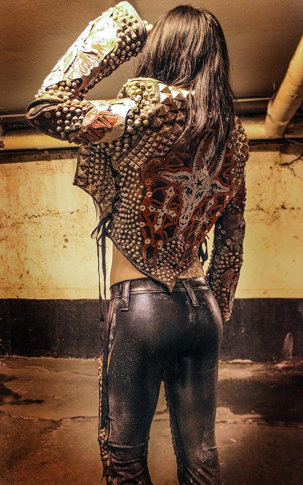 Toxic Vision Baphomet metal warrior jacket