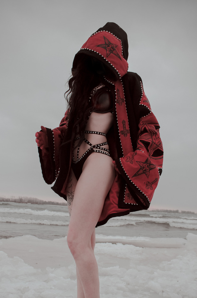 Toxic Vision ritual Baphomet sigil hooded cloak