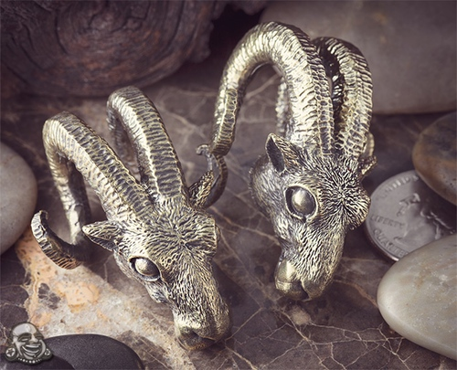 Maya Jewelry's brass Baphomet Weights from Bodyartforms