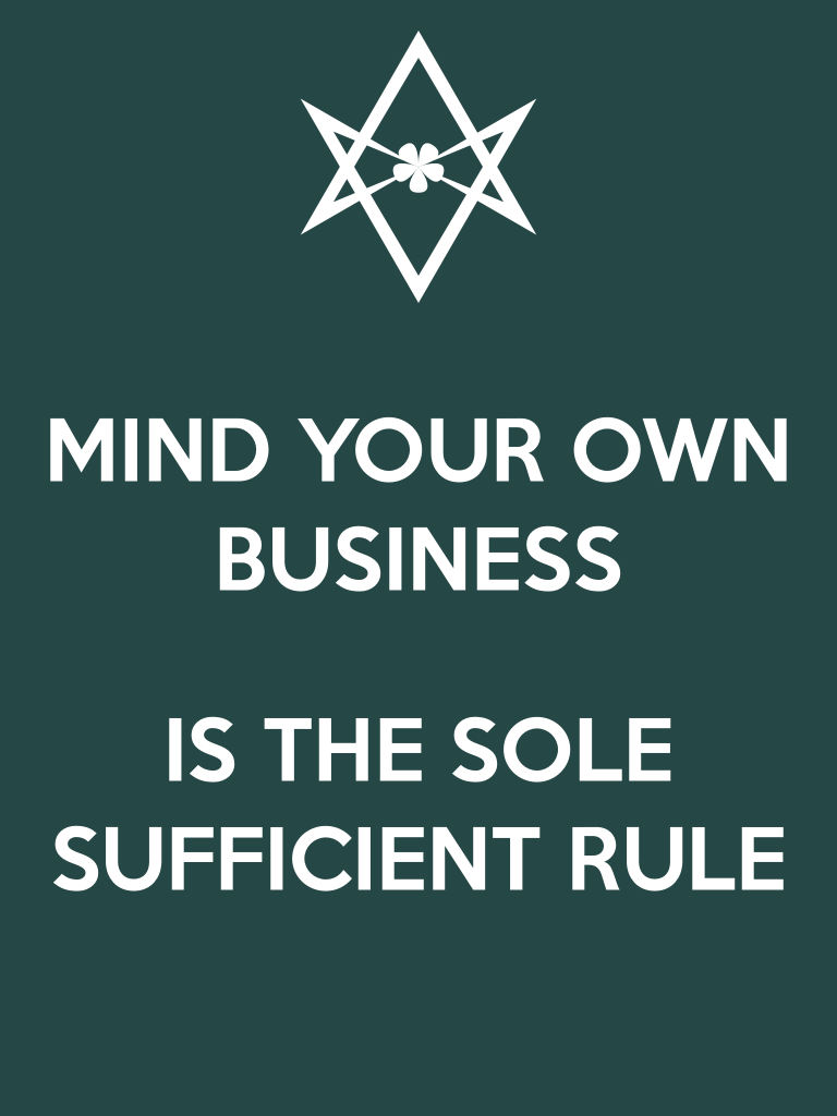 Unicursal Mind Your Own Business poster