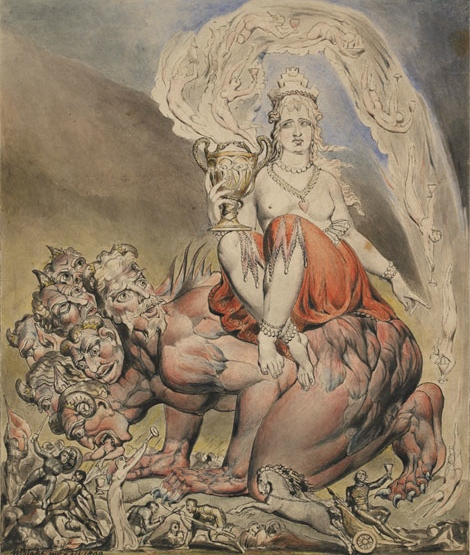 William Blake's The Whore of Babylon featured at Witches and Wicked Bodies exhibition