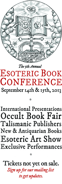 Esoteric Book Conference 2013