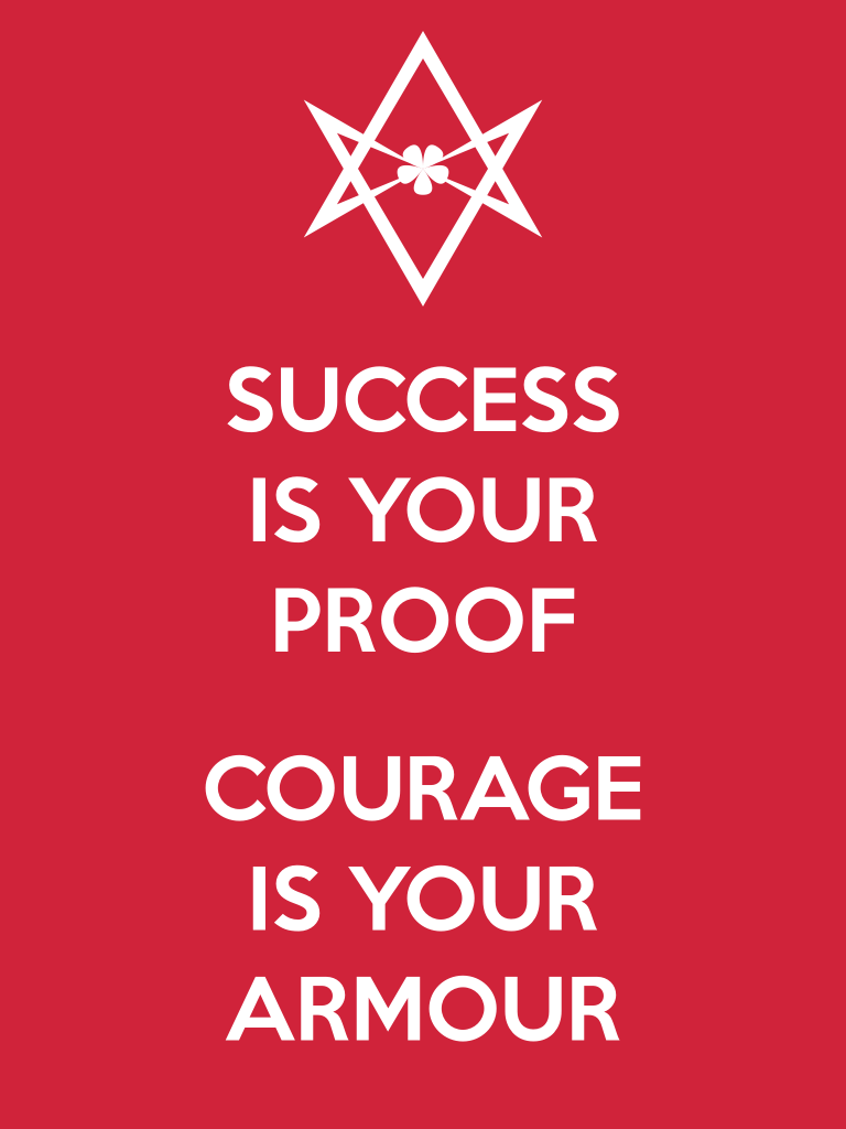 Unicursal SUCCESS IS YOUR PROOF Poster