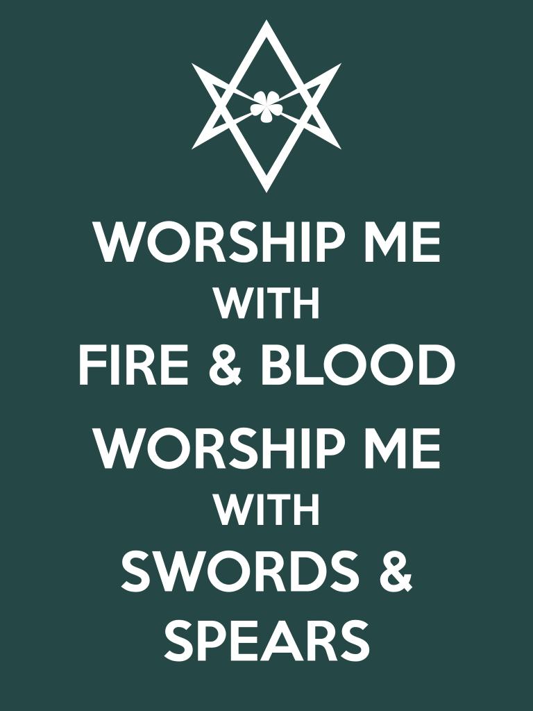 Unicursal WORSHIP ME Poster