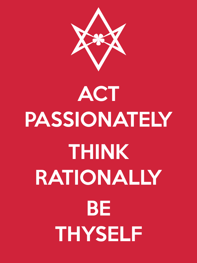 Unicursal BE THYSELF Poster