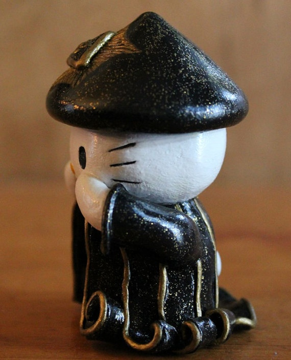 Aleister Crowley Horus Pose-Kitty from The All Seeing Cat side view