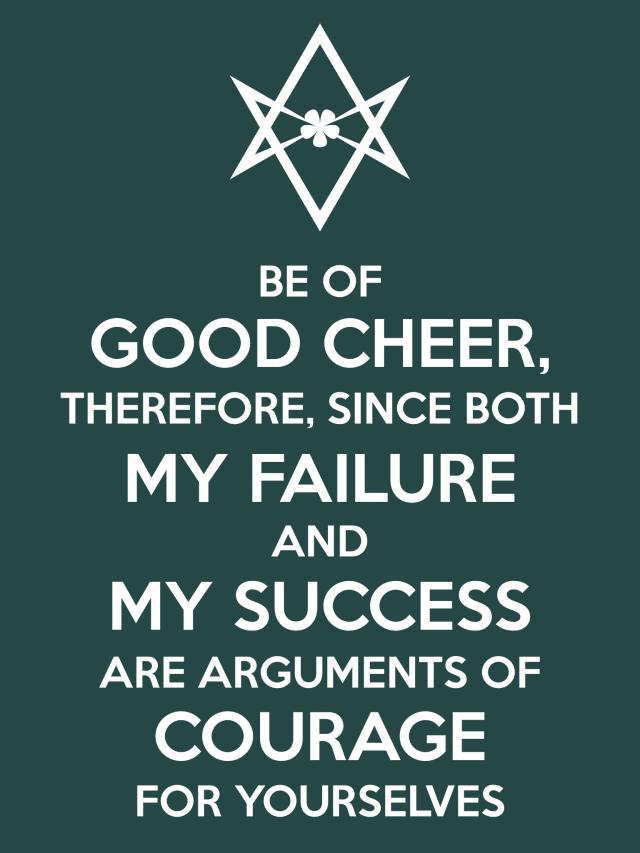 Unicursal FAILURE SUCCESS COURAGE Poster