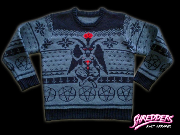 Satanic Knit Baphomet Sweater from Shredders Knit Apparel