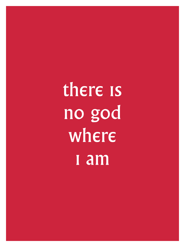 Village NO GOD WHERE I AM Poster
