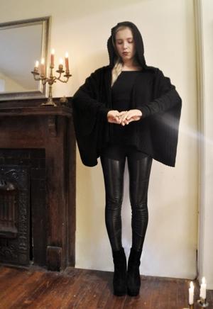 NUIT drapped cloak hoodie