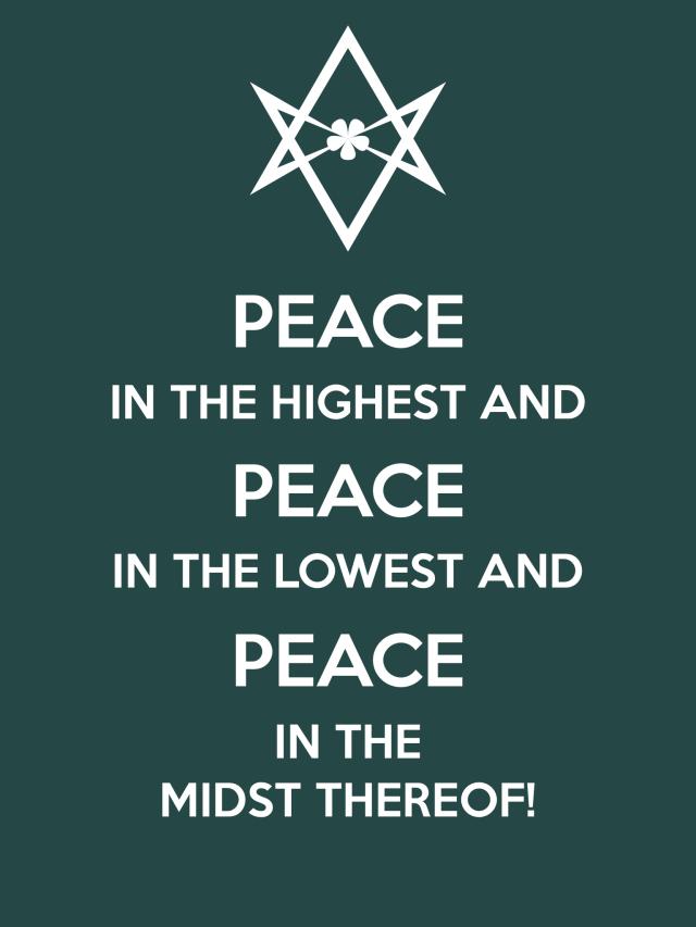 Unicursal PEACE PEACE PEACE Poster