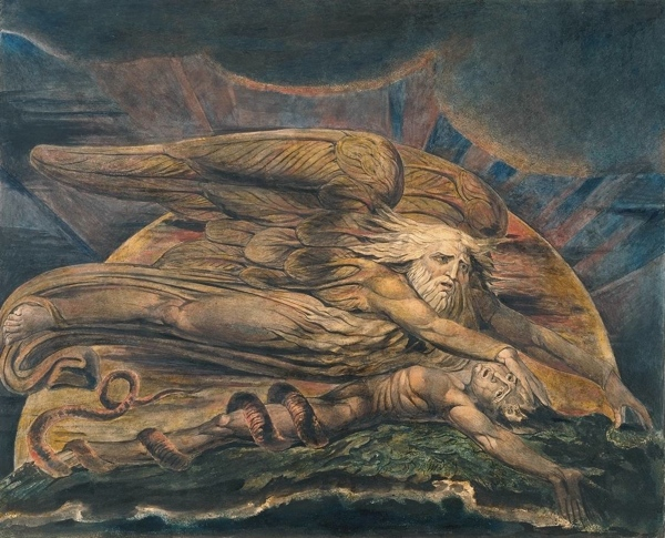 William Blake Elohim Creating Adam at Tate Britain