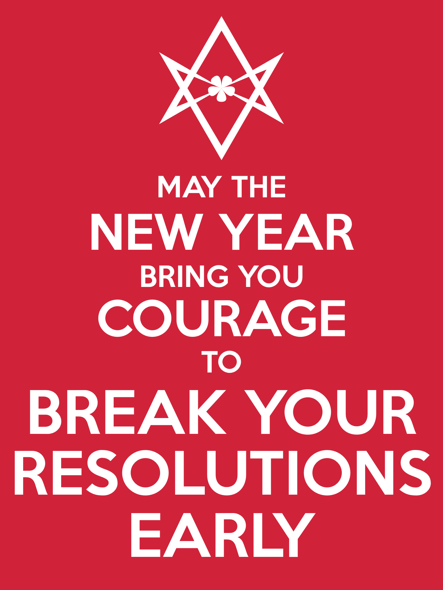 Unicursal NEW YEAR COURAGE Poster