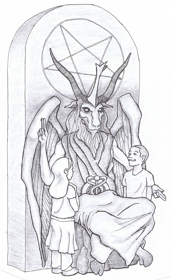 The Satanic Temple Baphomet Monument