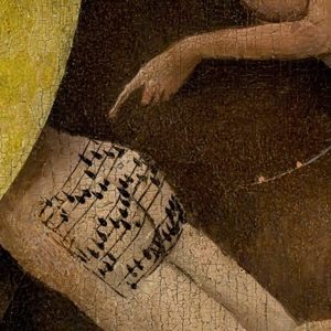 Hieronymous Bosch The Garden of Earthly Delights butt music detail
