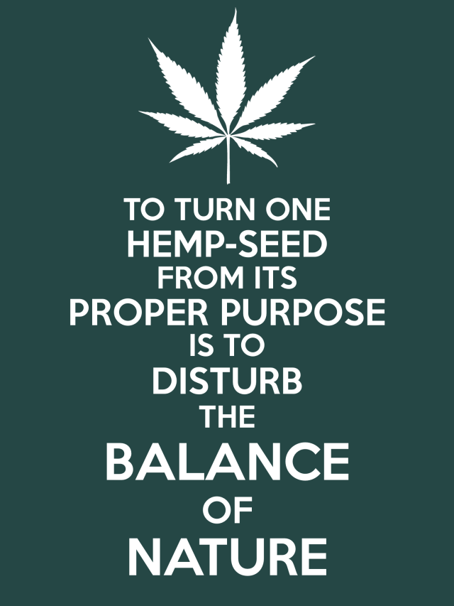 Hemp BALANCE OF NATURE Poster