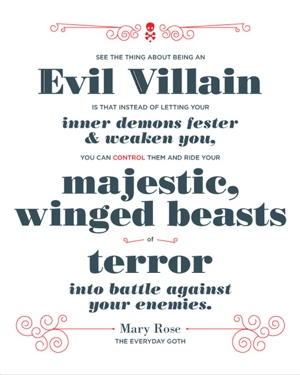 Mary Rose villian quote from Evil Supply Co