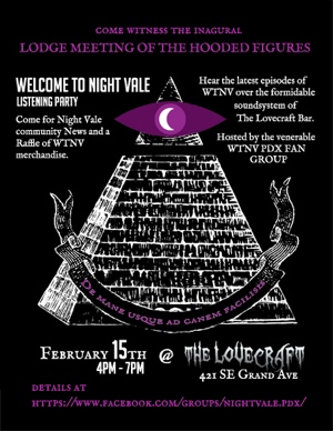 Welcome to Nightvale listening party Feb 15th 2014 in Portland