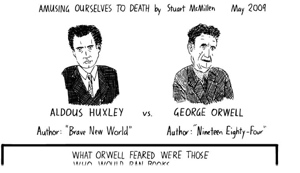 Stuart McMillan's Huxley vs Orwell: the Webcomic