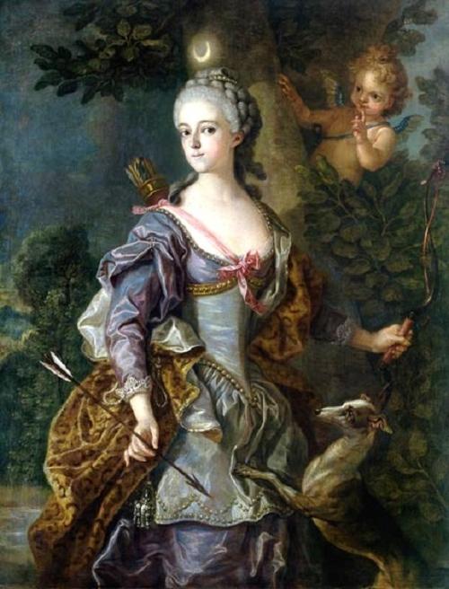 Luise Henriette Wilhelmine von Anhalt-Dessau as Diana 1765