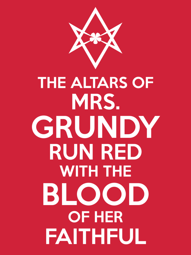 Unicursal MRS GRUNDY Poster
