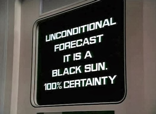 Space: 1999 Black Sun unconditional forecast 100% certainty