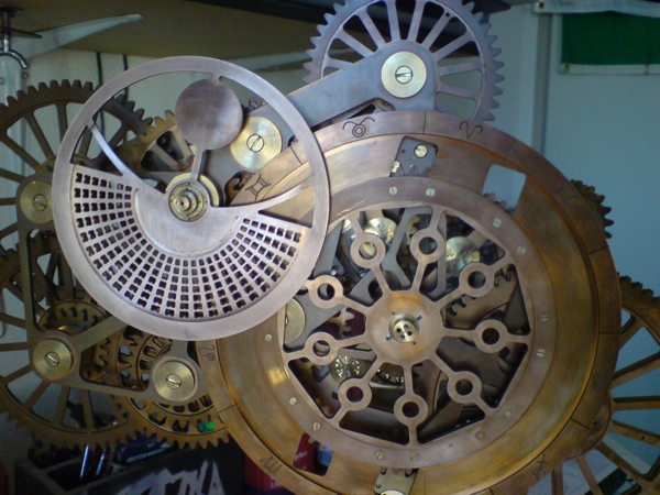 The Tellurium Clock of Marc Maradan at The Computus Engine