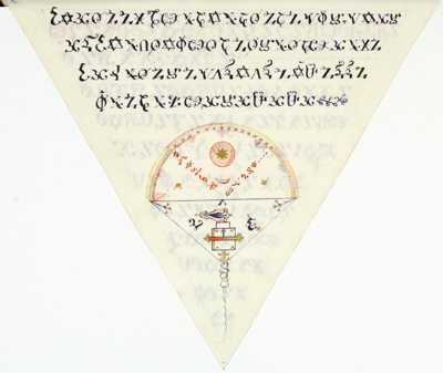 A triangular book about alchemy