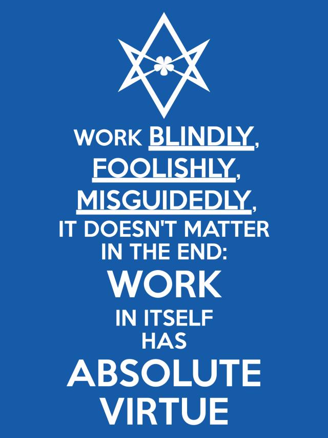 Unicursal WORK Poster
