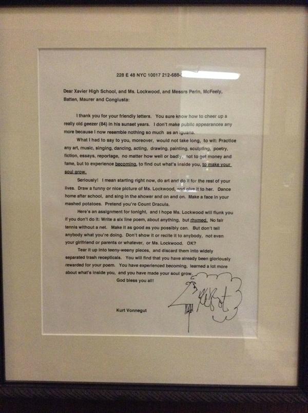 alxmog1 Kurt Vonnegut letter