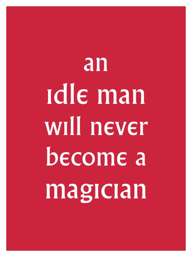 Village IDLE MAN Poster
