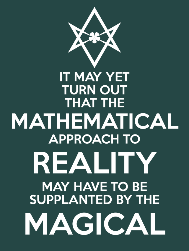 Unicursal MATHEMATICAL REALITY MAGICAL Poster