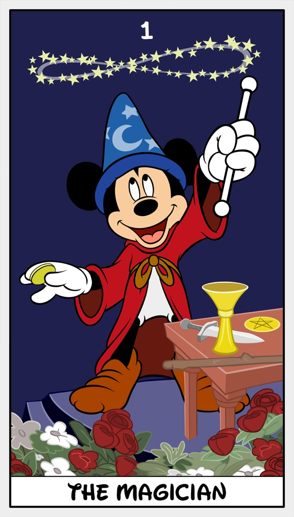 The Magician from The Disney-D'Morte Tarot