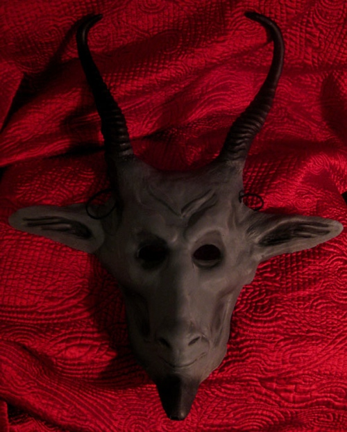 Baphomet mask from screwbiter studios