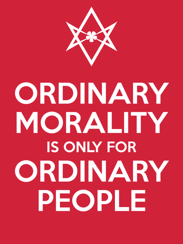 Unicursal ORDINARY MORALITY Poster