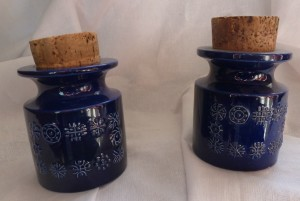 Portmeirion Totem blue spice jars from Hellfirecat