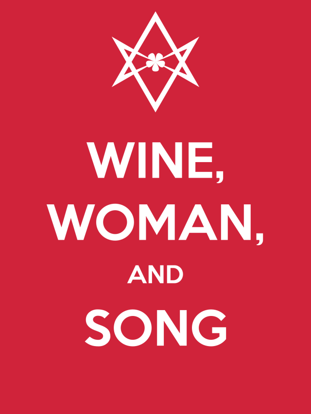 Unicursal WINE WOMAN SONG poster
