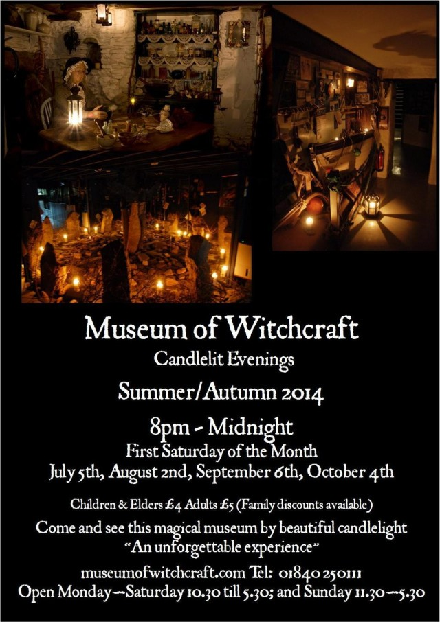 Candlelit evenings at Museum of Witchcraft 2014