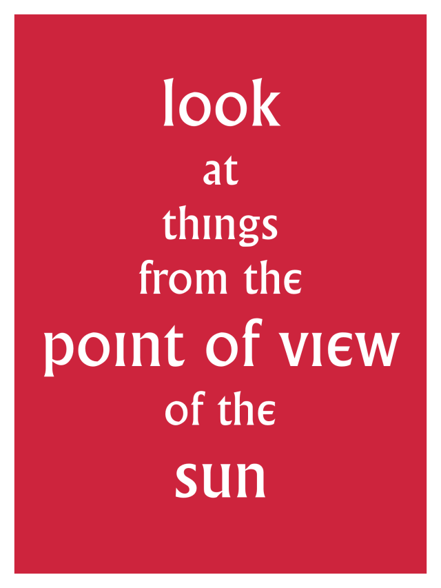 Village FROM THE POINT OF VIEW OF THE SUN Poster