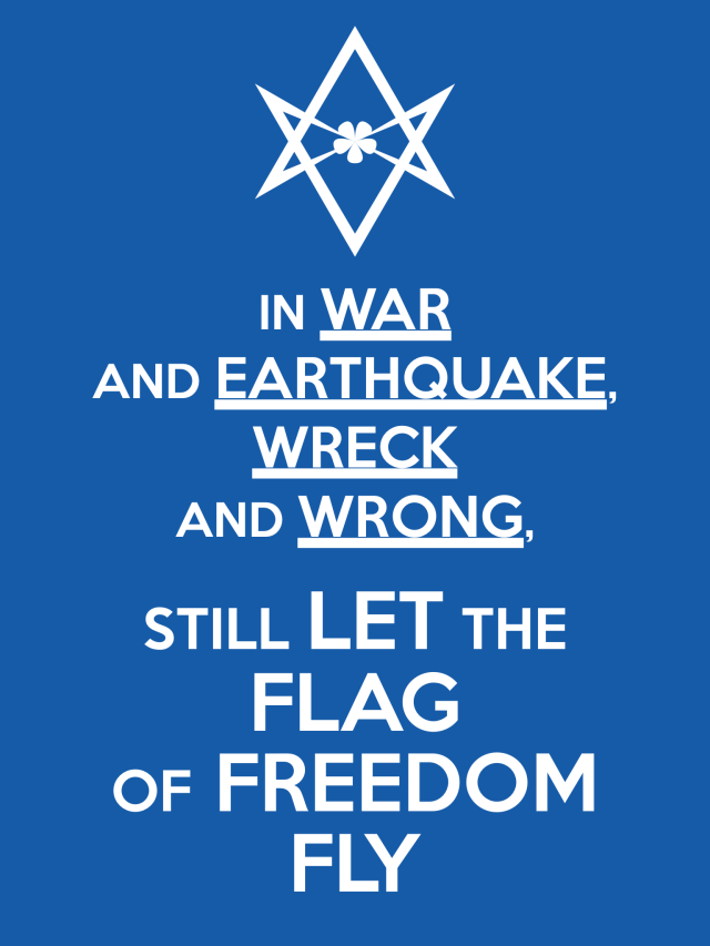 Unicursal LET THE FLAG OF FREEDOM FLY Poster