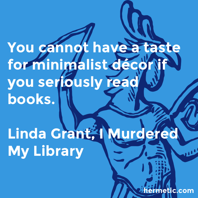 Hermetic quote Grant Murdered minimalist decor