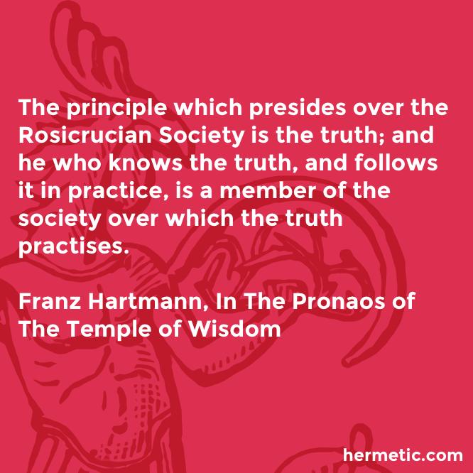 Hermetic quote Hartmann Pronaos principle presides