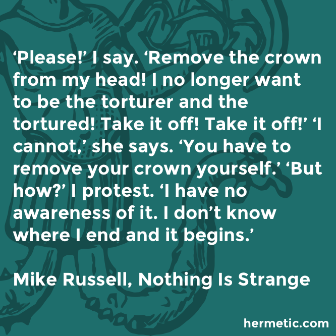 Hermetic quote Russell Strange crown