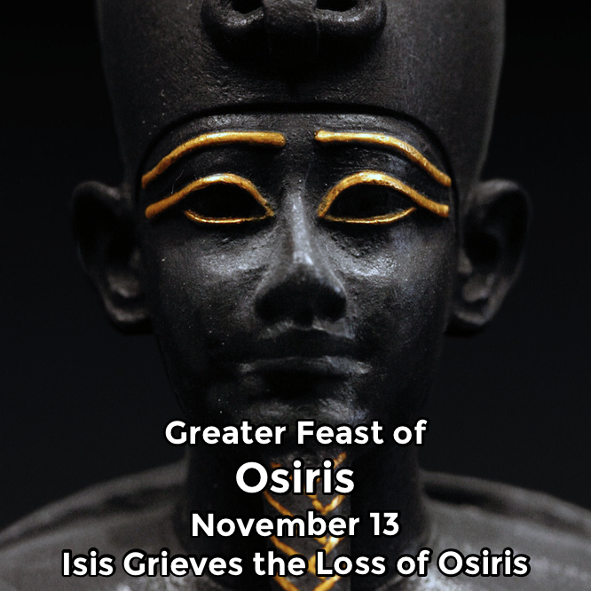 Hermetic Saints November 13 Osiris Greater