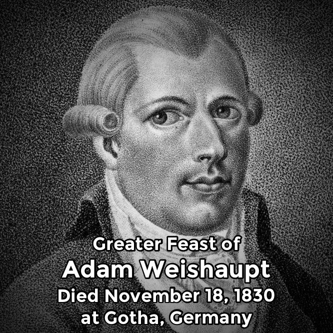Hermetic Saints November 18 Adam Weishaupt Greater