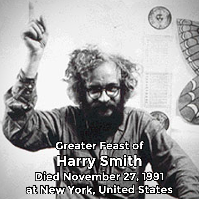 Hermetic Saints November 27 Harry Smith Greater