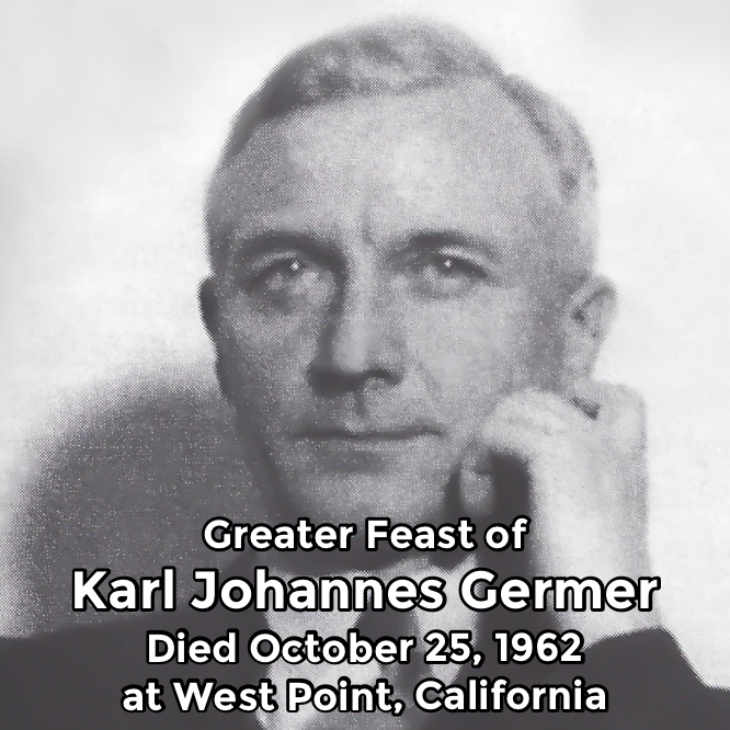 Hermetic Saints October 25 Karl Johannes Germer Greater